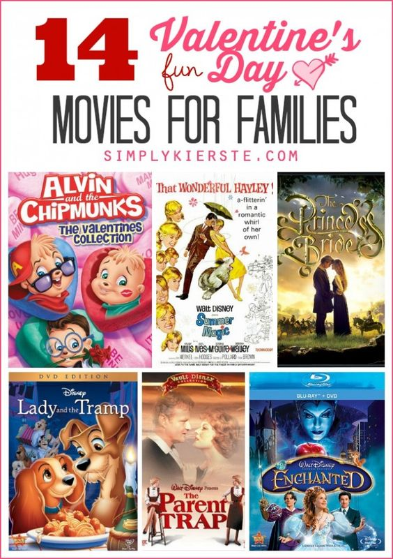 A list of 14 fun love themed movies for families: