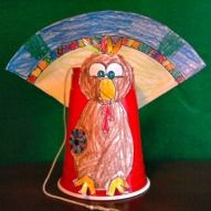 "Interactive Turkey ""Gobble Sound"" Cut And Paste Craft"