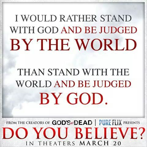 do you believe in god Yes if you believe in god, no if you don't if the person in question doesn't like your answer he/she is not a person worth of having as a friend this person to trying to get you into a religion that you want to stay away from.
