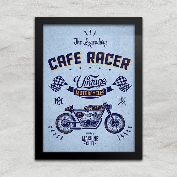 Quadro Decorativo Café Racer - Machine Cult - Kustom Shop | A loja das camisetas de carro e moto