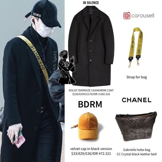 """Official SG&JN 's closet ® on Instagram: """"190209 Suga in @insilence_official , @chanelofficial @carousell.sg and BDRM…"""""""