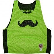 Mustaches Save Lives Reversible Lax Pinnie