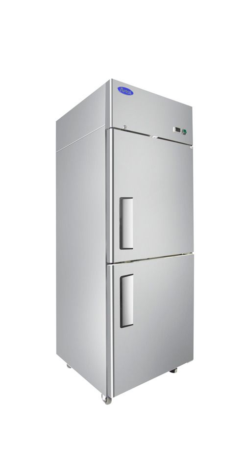 52 Double 2 Door Side By Side Stainless Steel Reach In Commercial Refrigerator 49 Cubic Feet For Commercial Freezer Upright Freezer Freezerless Refrigerator