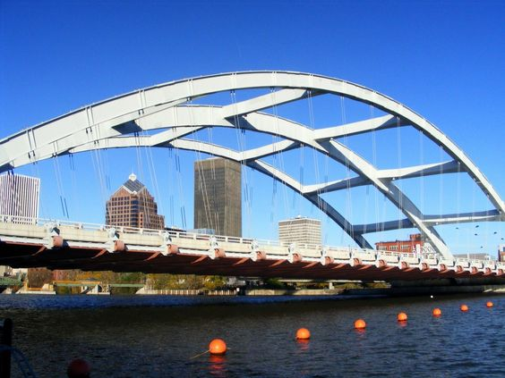 The Frederic Douglass-Susan B. Anthony Bridge over the Genesee River, Rochester, NY