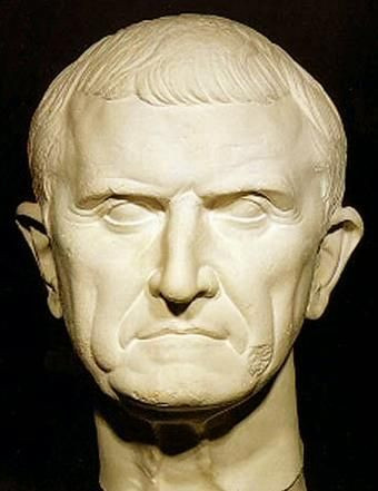 The richest man in Rome, Marcus Licinius Crassus was part of the Triumvirate. He suppressed the spartican revolts, and provided political and financial support for Julius Caesar.