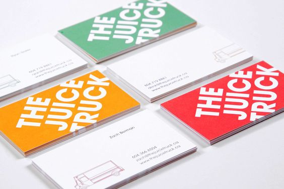 The Juice Truck (Glasfurd & Walker): Juice Truck, Card Designs, Graphic Design Art, Namecard Design, Business Card Design, Juice Bar Design, Graphic Design Business, Design Business Cards