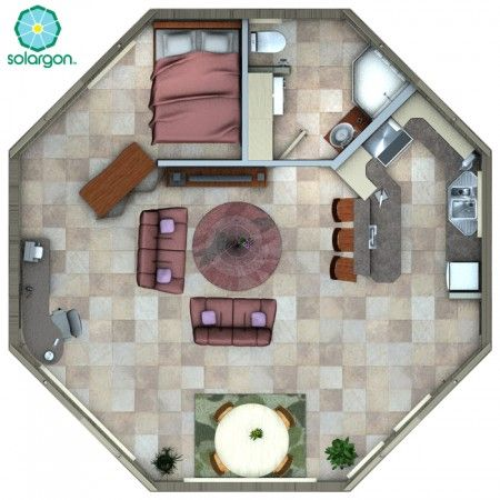 30' Solargon Floorplan