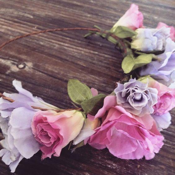 flower gypsies. summer silk lisianthus #crown.