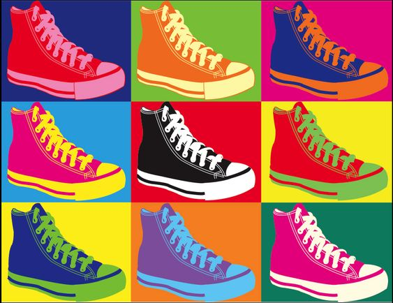 shit I found my artwork on Pinterest Oo    Converse Andy Warhol style by !RoguePunkChic on deviantART:
