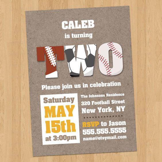 Sports Birthday Party Invitation Digital by JanetteChiuDesign, $15.00
