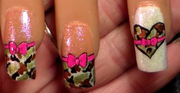 my valentine camo hearts and bows. check out the tutorial on youtube http://www.youtube.com/watch?v=AoC3MvKtIWw