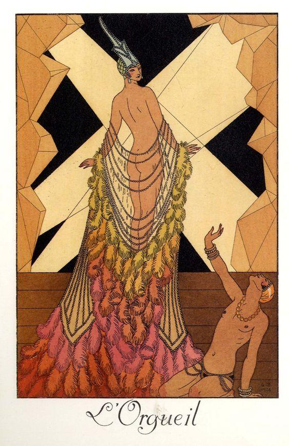 1924.  The Seven Deadly Sins by George Barbier.  L'Orgueil (Pride).