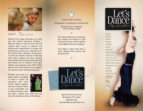 Striking photo in this dance brochure Dance Studio Brochure - studio brochure