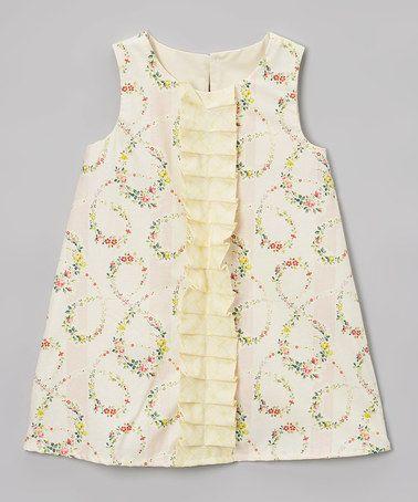 Look at this #zulilyfind! Pink Ruffle-Accent Shift Dress - Infant & Toddler #zulilyfinds