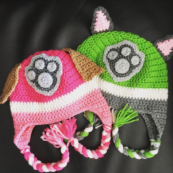 Patrulla de ganchillo sombrero de la pata por MaggieGraceBowtique
