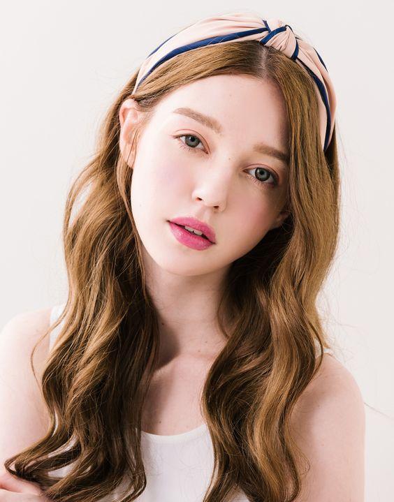 韓國SWEETGIRL綁結配色髮箍.女裝.PAZZO