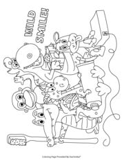 Wild Smile Coloring Page!