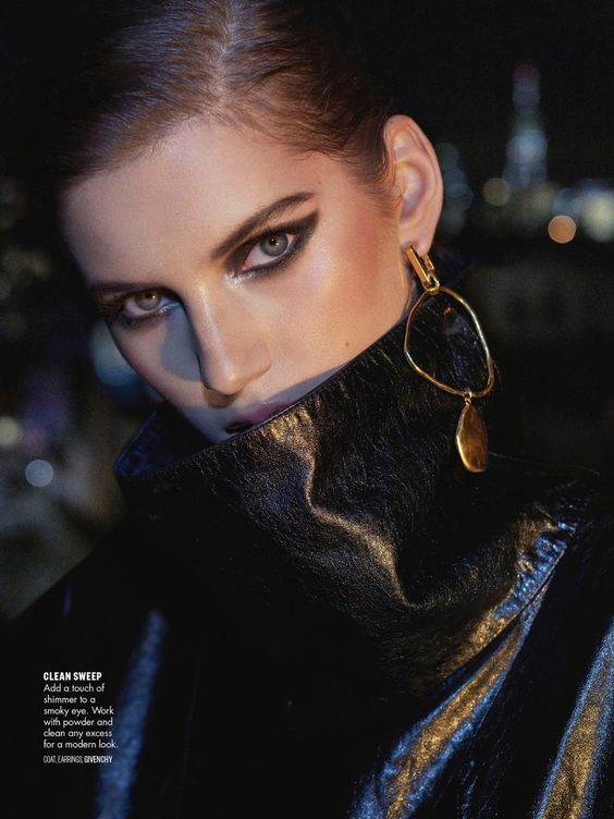 Valery Kaufman har glamorös skönhet för Vogue Arabia