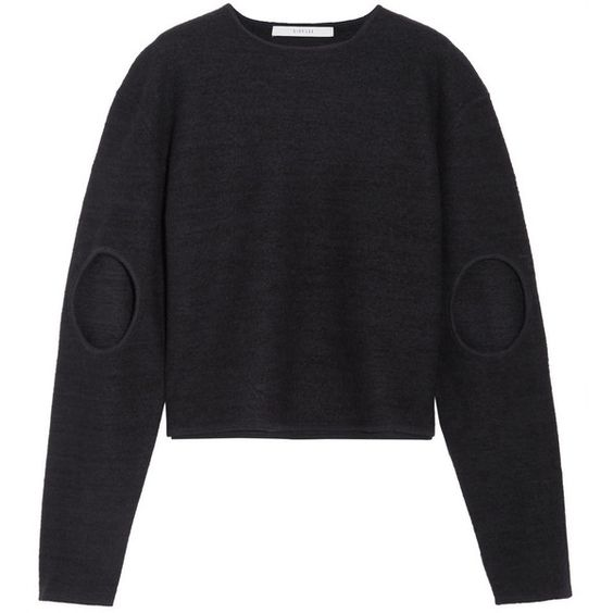 Dion Lee Cutout boiled wool sweater (€390) ❤ liked on Polyvore featuring tops, sweaters, midnight blue, cutout tops, dion lee, cut-out sweaters, cut out sweater and cut-out tops