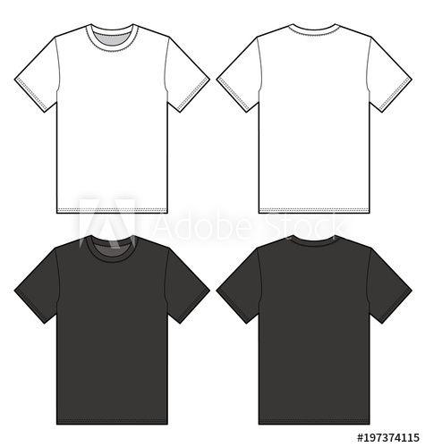 Download T Shirt Vector Illustration Flat Sketches Template Shirt Illustration T Shirt Sketch Shirt Sketch