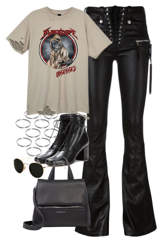 """""""Untitled #747"""" by theradmoons ❤ liked on Polyvore featuring ASOS, Unravel, Yves Saint Laurent, Givenchy and Ray-Ban"""