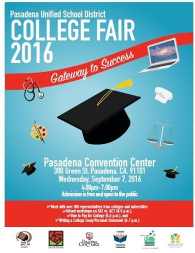Pasadena Unified Hosts College Fair 2016 on Wednesday