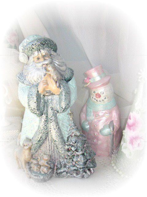 Aqua SANTA Claus St Nick Figurine Victorian by RoseChicFriends, $19.99