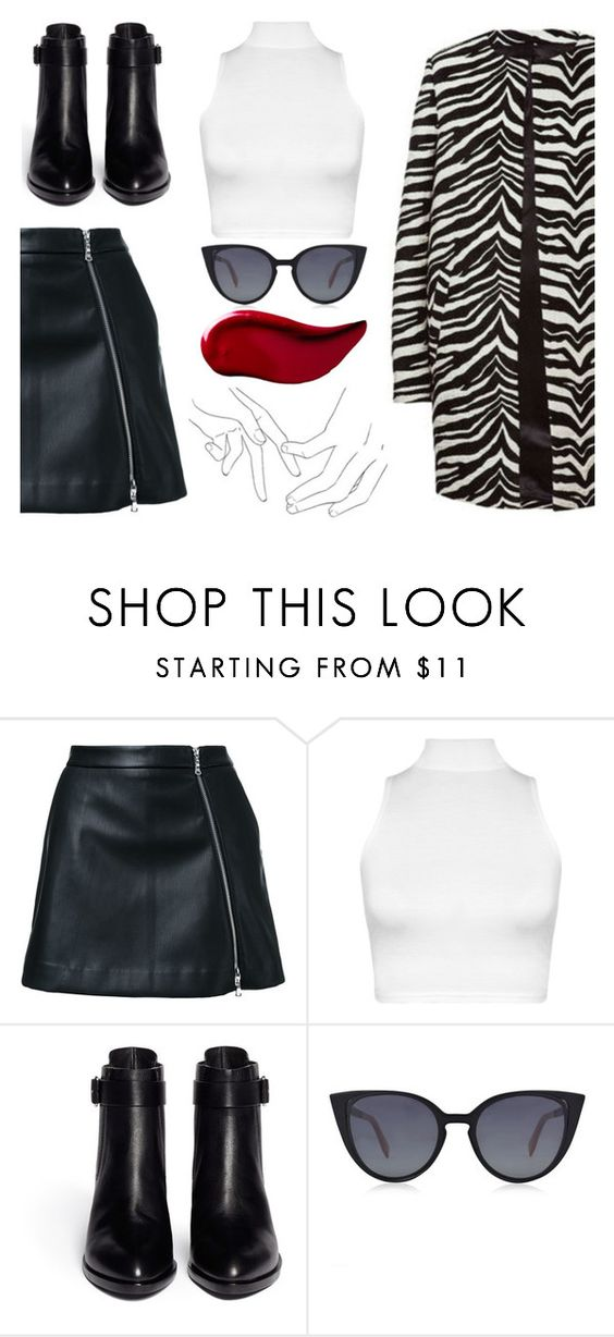 """""""~23~turtleneck top"""" by ailishastrid ❤ liked on Polyvore featuring Guild Prime, MACKINTOSH, WearAll, Alexander Wang, Fendi and Kat Von D"""