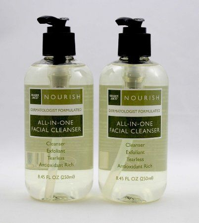 trader joes nourish all in one facial cleanser beauty misc beauty pinterest cleanser. Black Bedroom Furniture Sets. Home Design Ideas