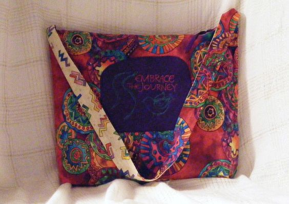 "Large Hobo Bag - Colorful, Spinning Wheels to help you ""Embrace the Journey"" ahead. by MASBags, $25.00 USD"