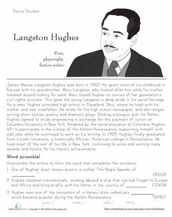 Harlem Renaissance Worksheets