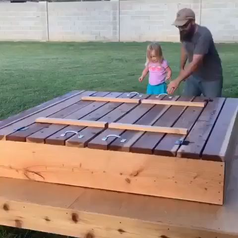 Hidden Bench Sandbox Design Carpentry Projects Woodworking