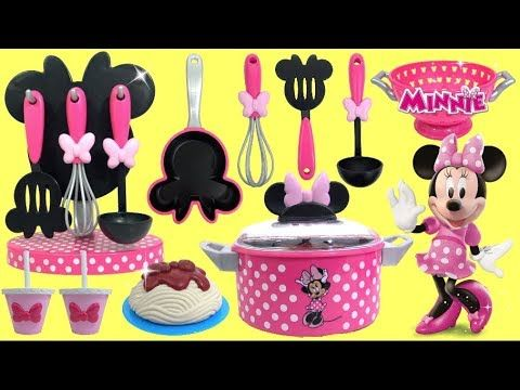 Minnie Mouse Spaghetti Meatballs Cooking Utensil Play Set For Kids Youtube Kids Cooking Utensils Spaghetti And Meatballs Cooking Set