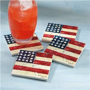 Liberty Coasters from Lillian Vernon | Fourth of July Decorations