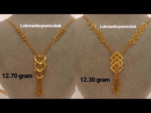 Necklace Models Latest Light Weight Gold Necklace Designs Gold Necklace For Women Under 10 Gold Necklace Designs Gold Necklace Gold Jewelry Simple Necklace