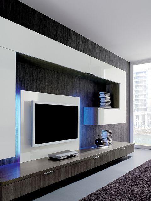 Centro De Entretenimiento Tv Room Design Home Room Design Living Room Design Modern
