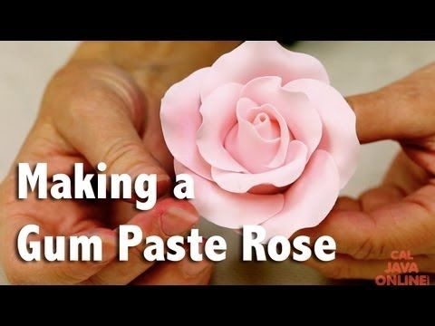 How to Make a Large Rose from Gum Paste | Cake Tutorial