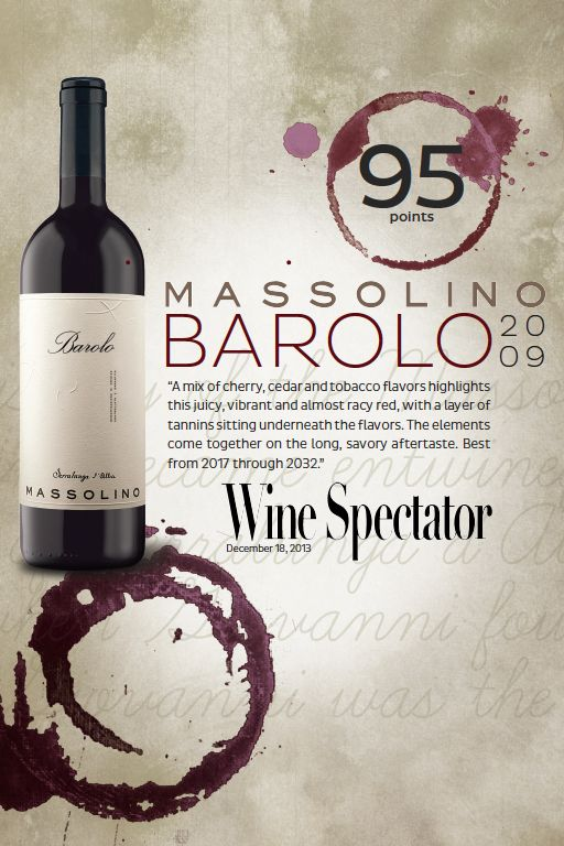 #Massolino Barolo 2009 - 95 points - #Wine Spectator