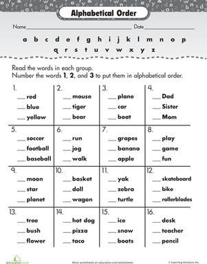 Printables Education.com Worksheet httpwww education comworksheet image141234alphabetized image141234