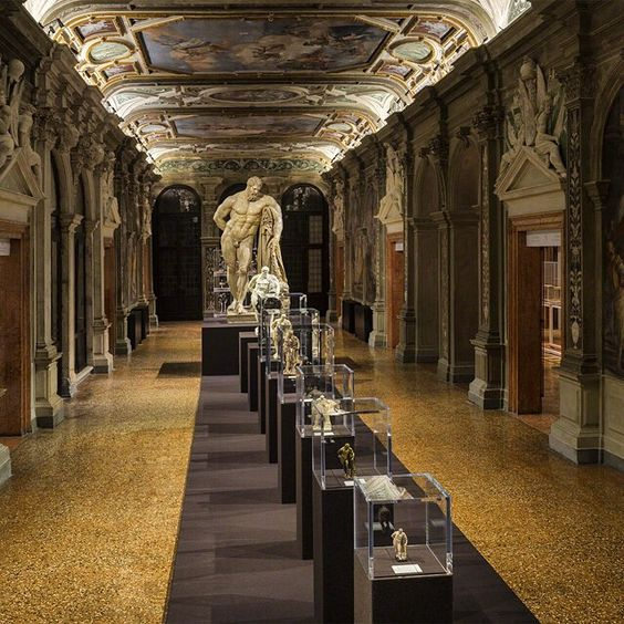 fondazione @prada presents an exhibition within the ca' corner della regina during the #venice art biennale 2015. co-curated by #salvatoresettis and davide gasparotto, 'portable classic' presents more than 80 artworks, each exploring the origins and functions of miniature reproductions of classical sculptures. #veniceart2015 #justpublishedondesignboom