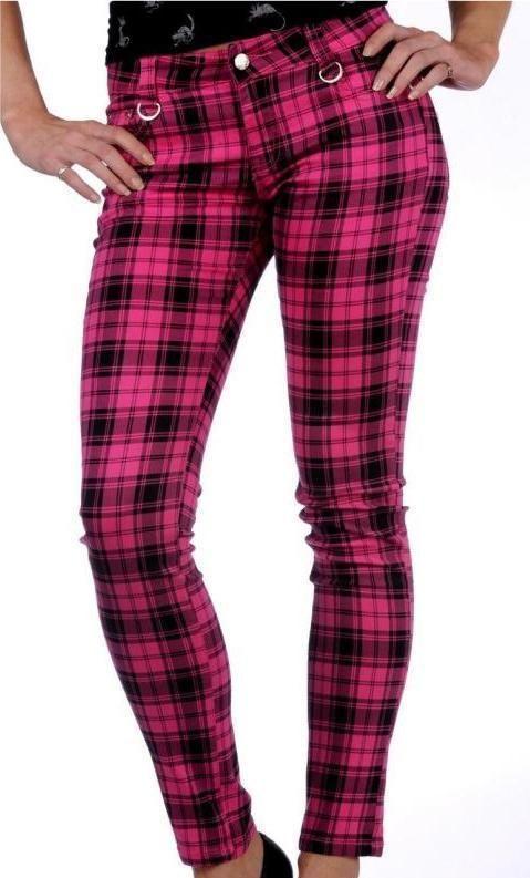 pink plaid pants