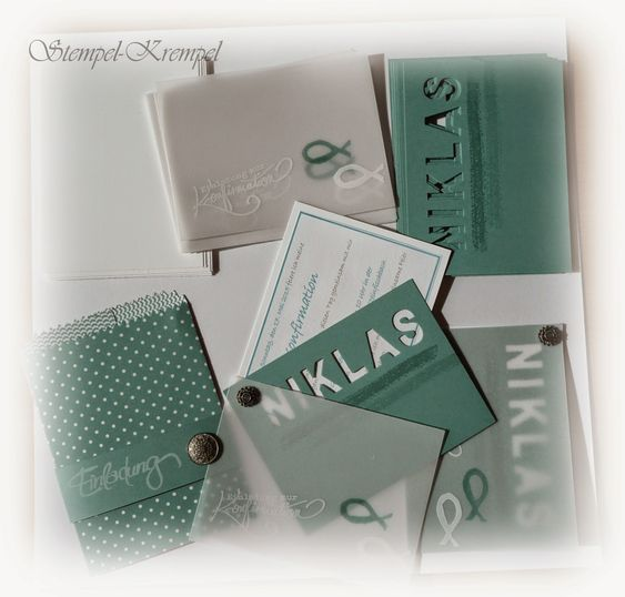 Stempel-Krempel: Konfirmationseinladung #Konfirmation #Stampin´Up