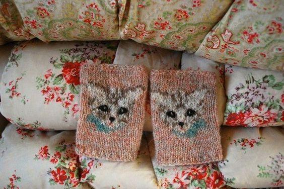 meow mitts KNITTING PATTERN by TinyOwlKnitsPatterns on Etsy