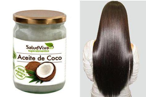 Aceite de coco para alisar el pelo sin dañarlo.