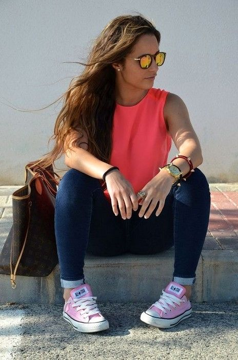 20 Ways To Rock Converses With Any Outfit For Girls