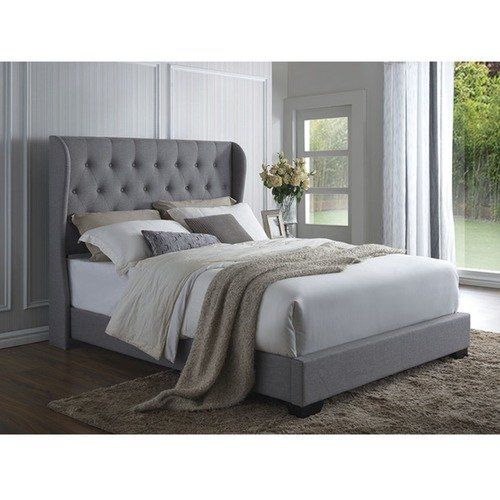 Grey Harlow Winged Bed Frame Wingback, Harlow Panel Bed Queen
