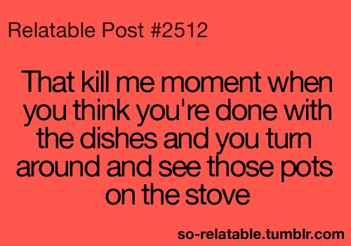 Seriously happens every time!