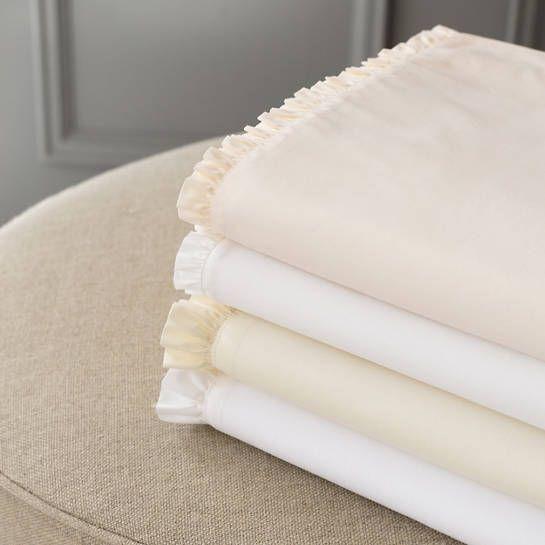 Petite Ruffle Ivory Sheet Set 184 00 284 00 Ivory Bedding
