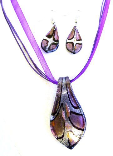 Gorgeous Glass Pendant Necklace and Dangle Earring Set - Water Drop Shape-purple-silver-brown Blue Whale,http://www.amazon.com/dp/B008A37A52/ref=cm_sw_r_pi_dp_3mDYsb0TDKYMKX4B