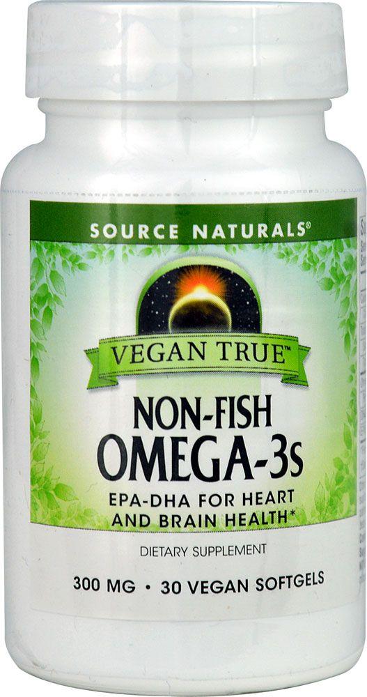 Source Naturals Vegan True Omega 3s 300 Mg 30 Vegan Softgels Omega Essential Fatty Acids Natural Food